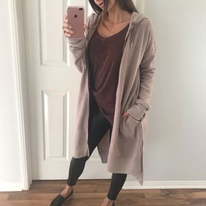Sweaters - Mauve Zip Cardi
